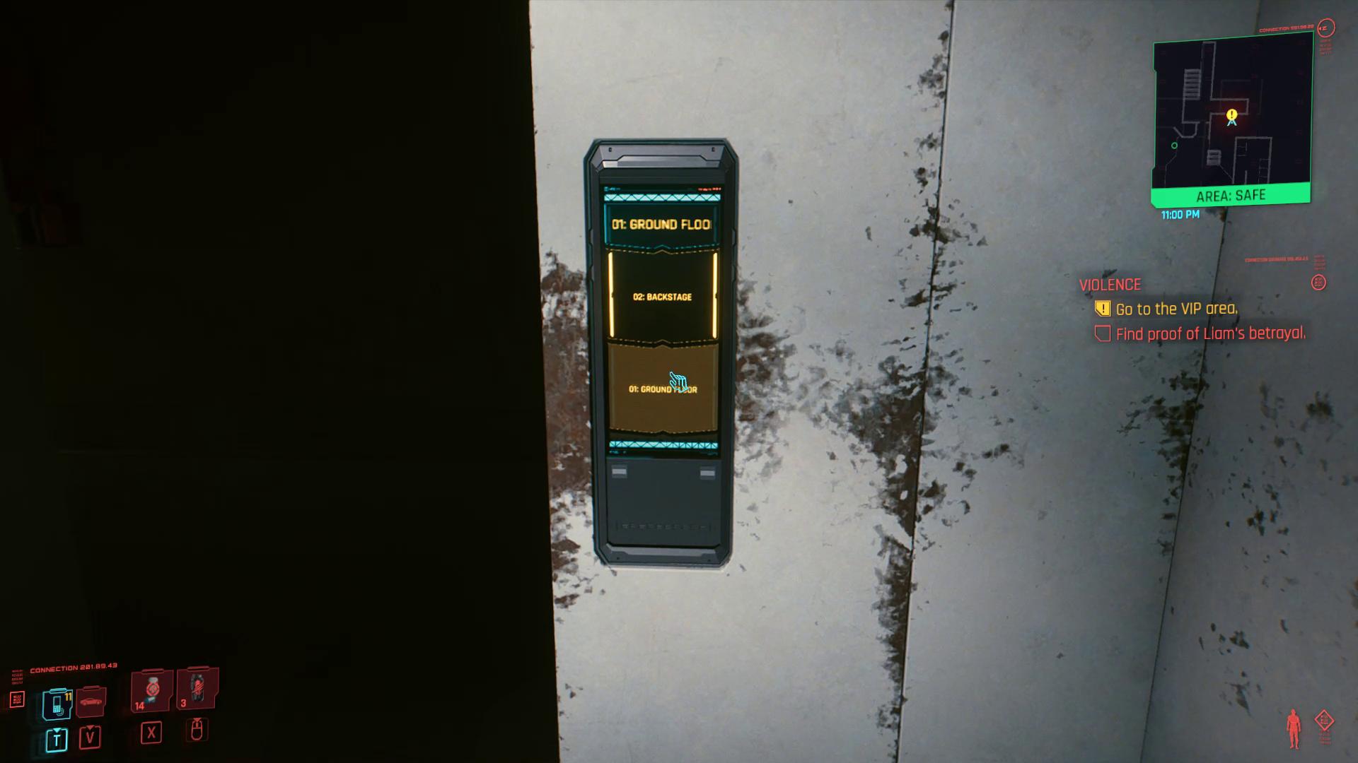 Ascenseur de trahison de Liam Cyberpunk 2077