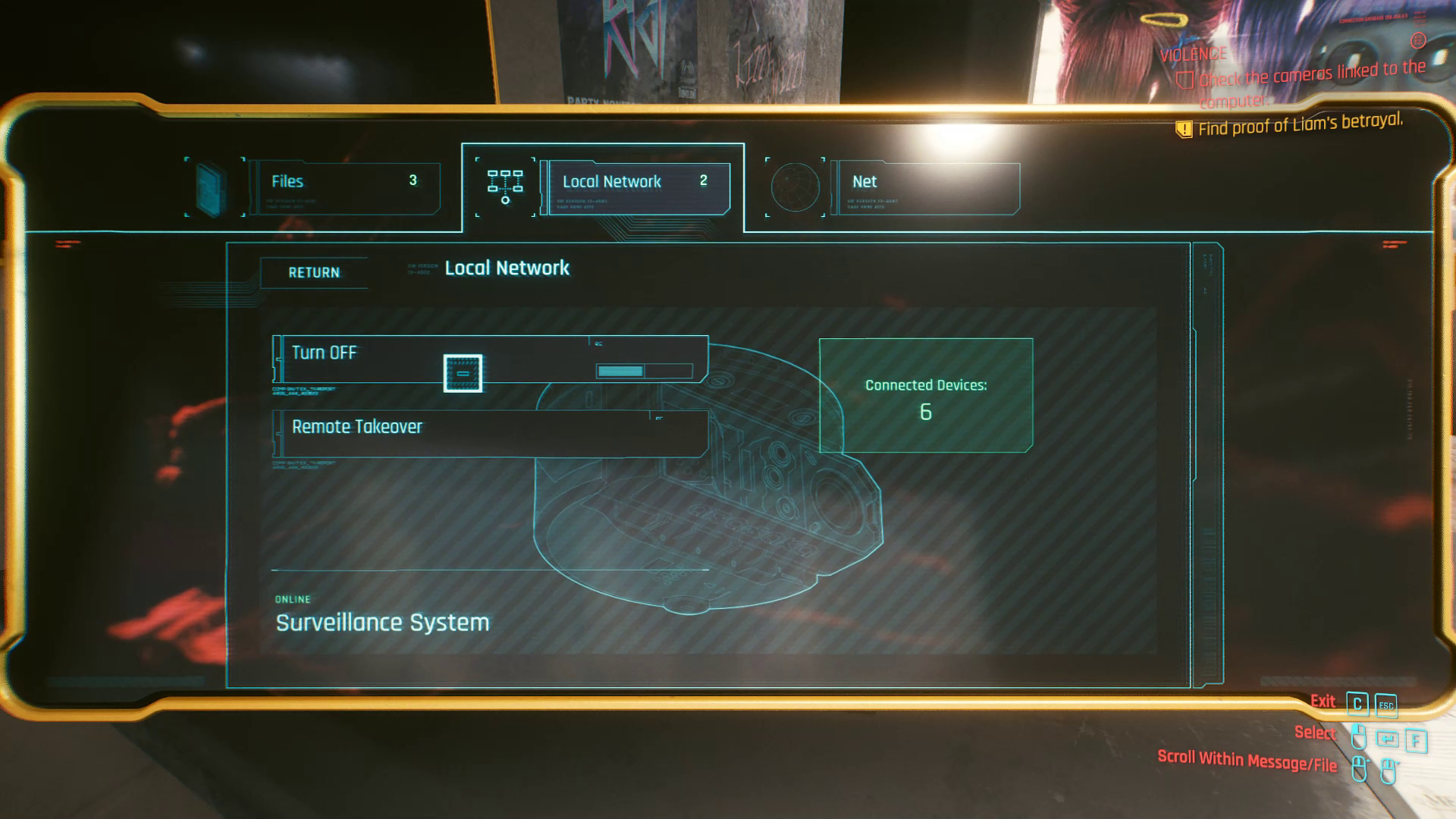 Terminal de trahison de Liam Cyberpunk 2077