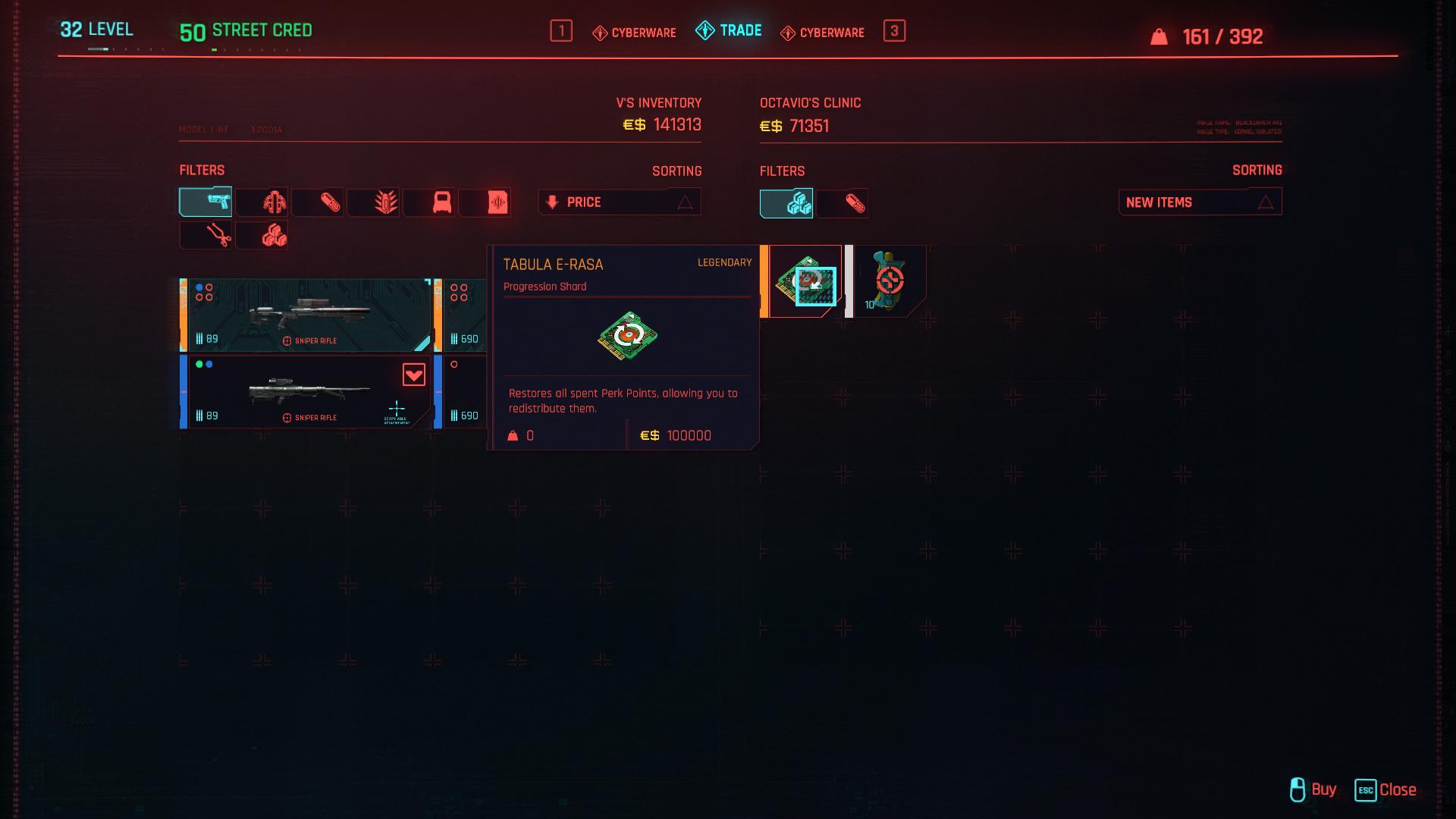 Tabula E-Rasa Cyberpunk 2077