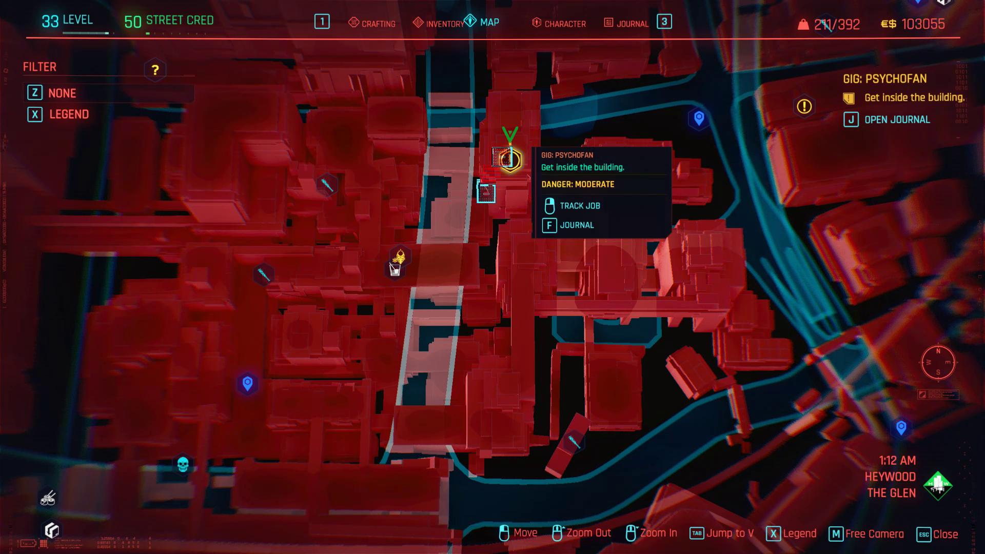Cyberpunk 2077 Pyschofan Map Zoom avant
