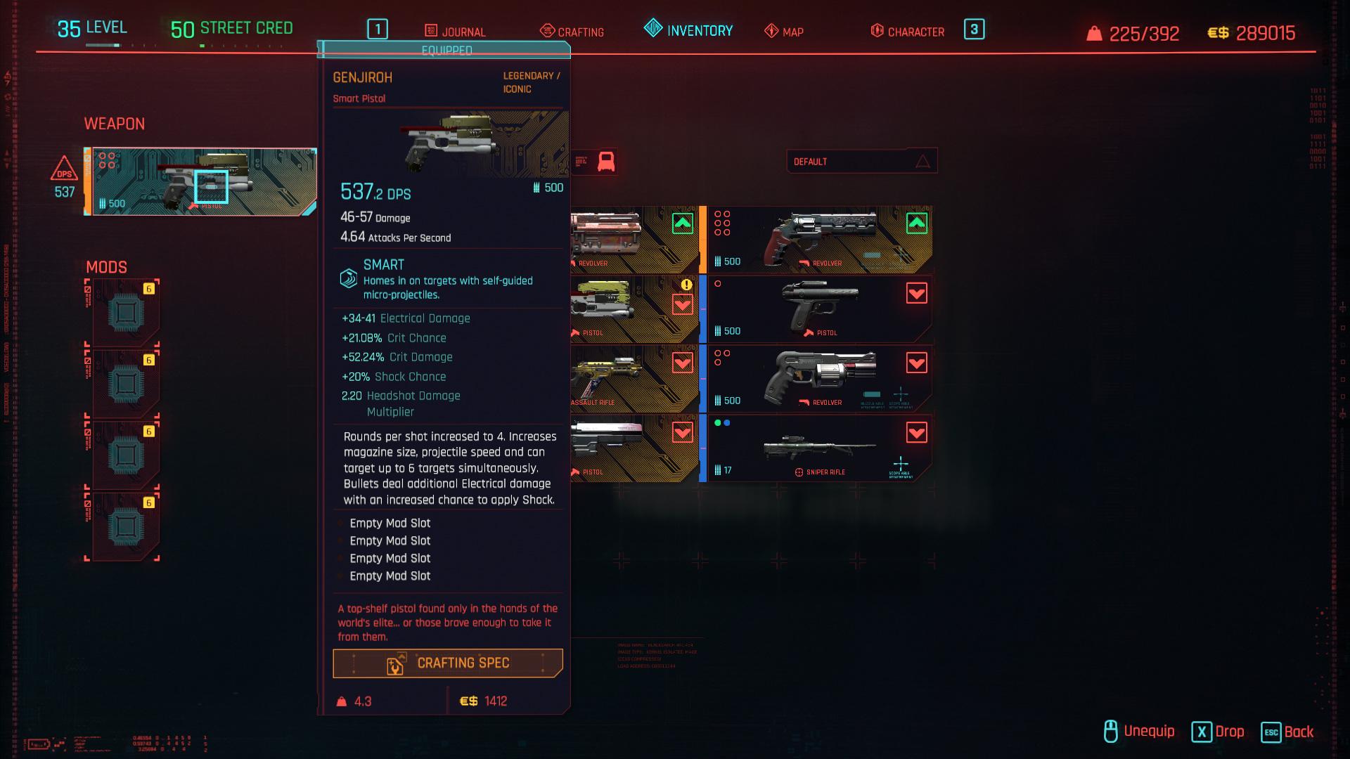 Meilleurs pistolets dans Cyberpunk 2077 et comment les obtenir Genjiroh