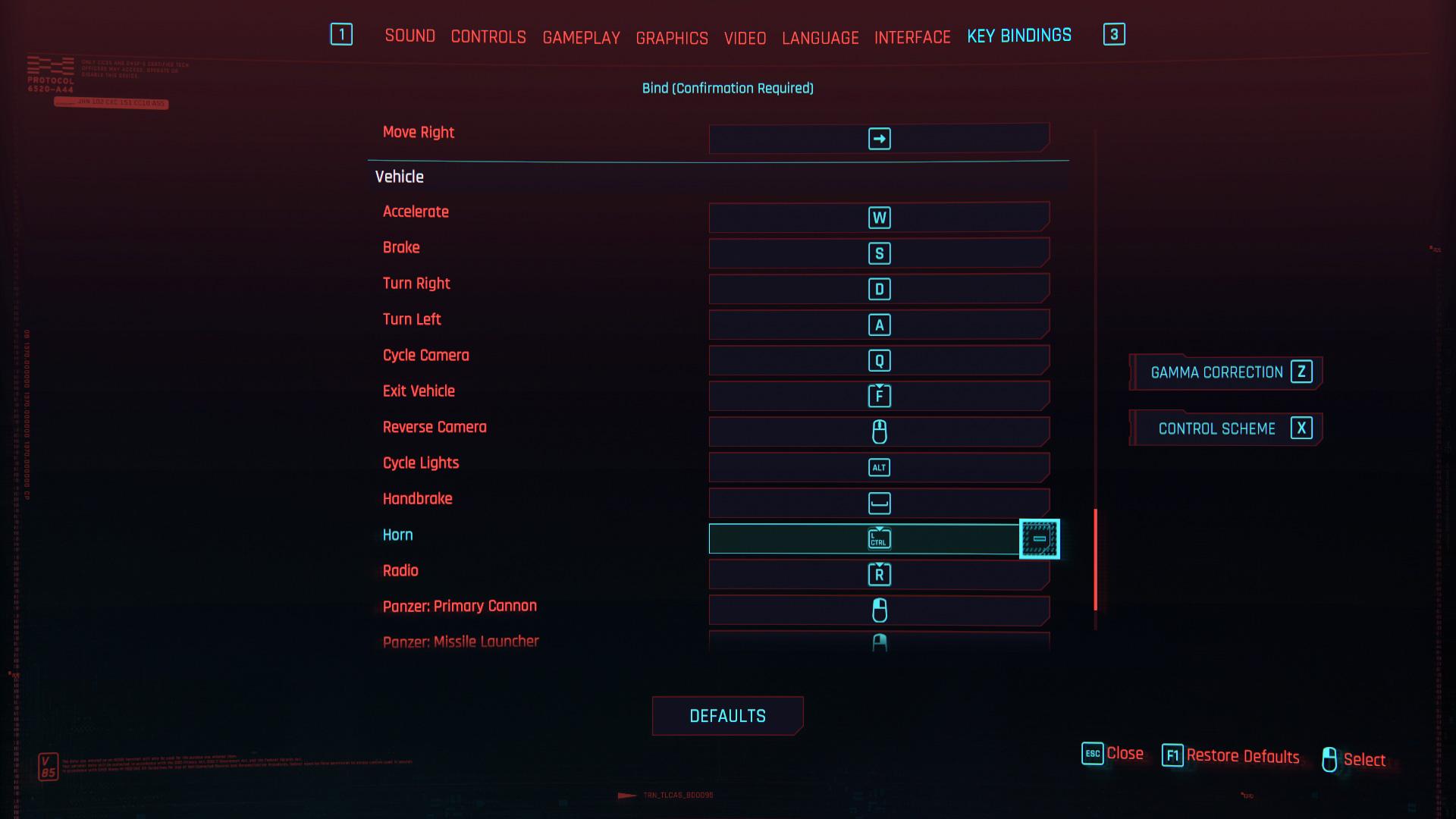 Comment klaxonner dans Cyberpunk 2077