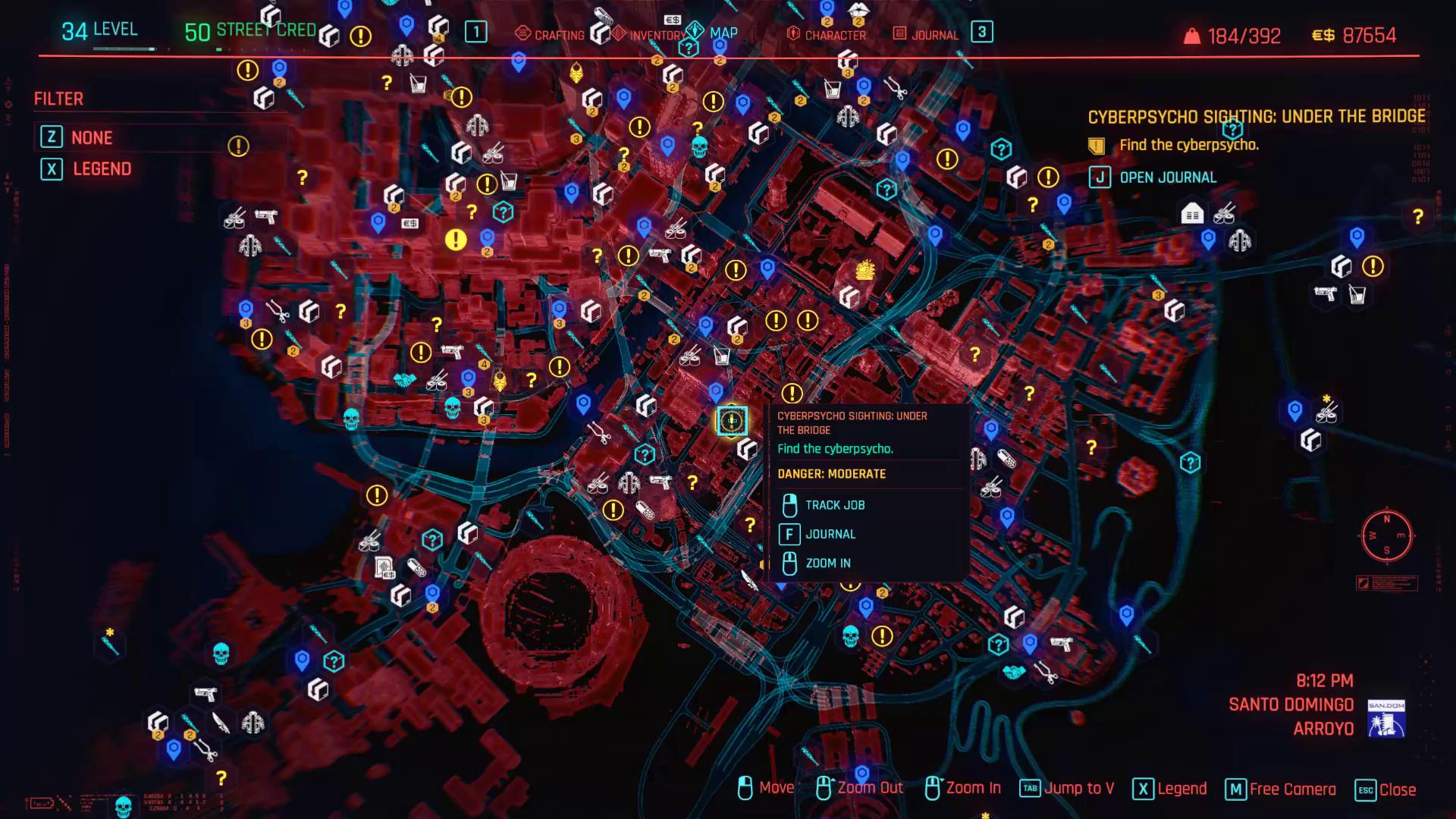 Cyberpsycho sous le pont zoom arrière
