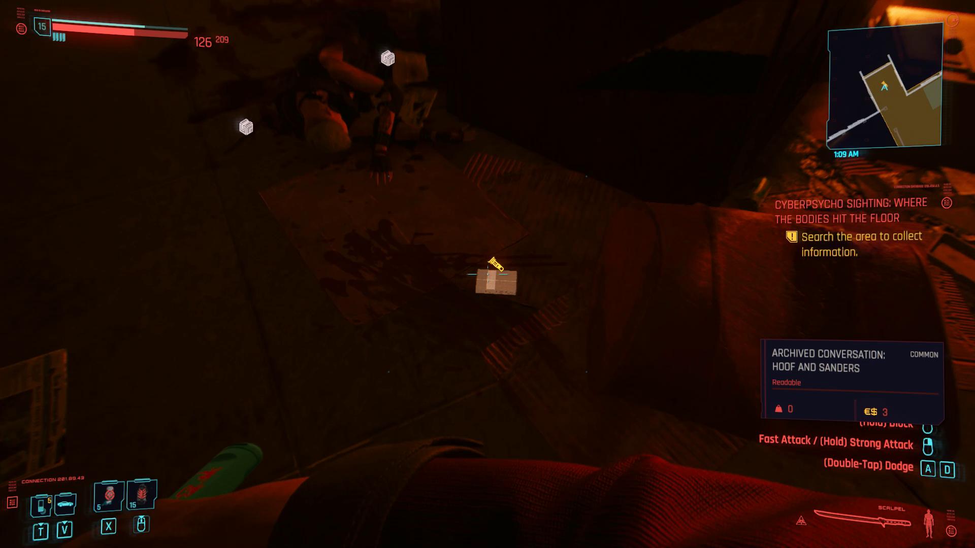 Cyberpsycho où les corps sur le sol 01