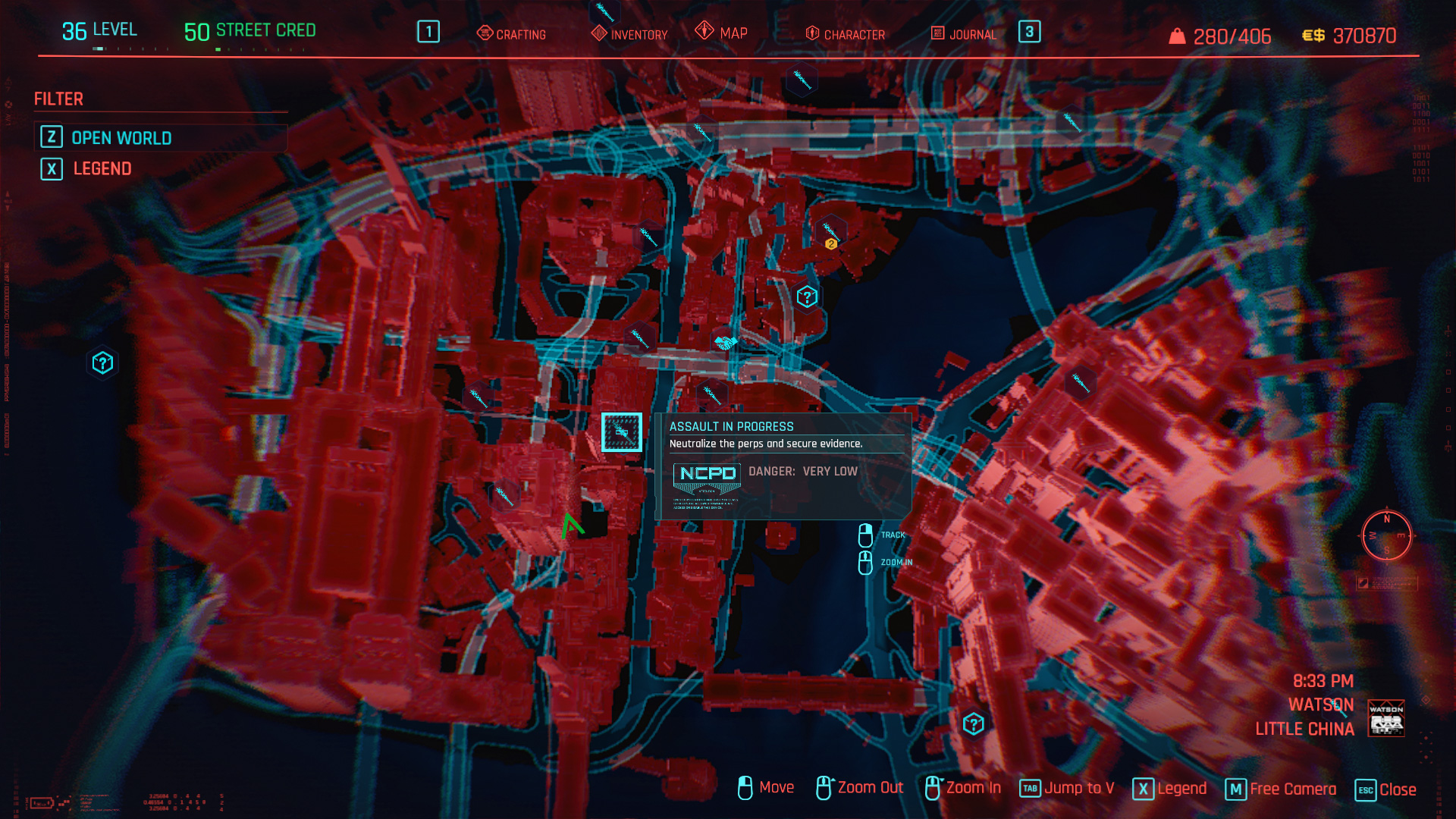 Open World Map NCPD Police Scanner Job Cyberpunk 2077