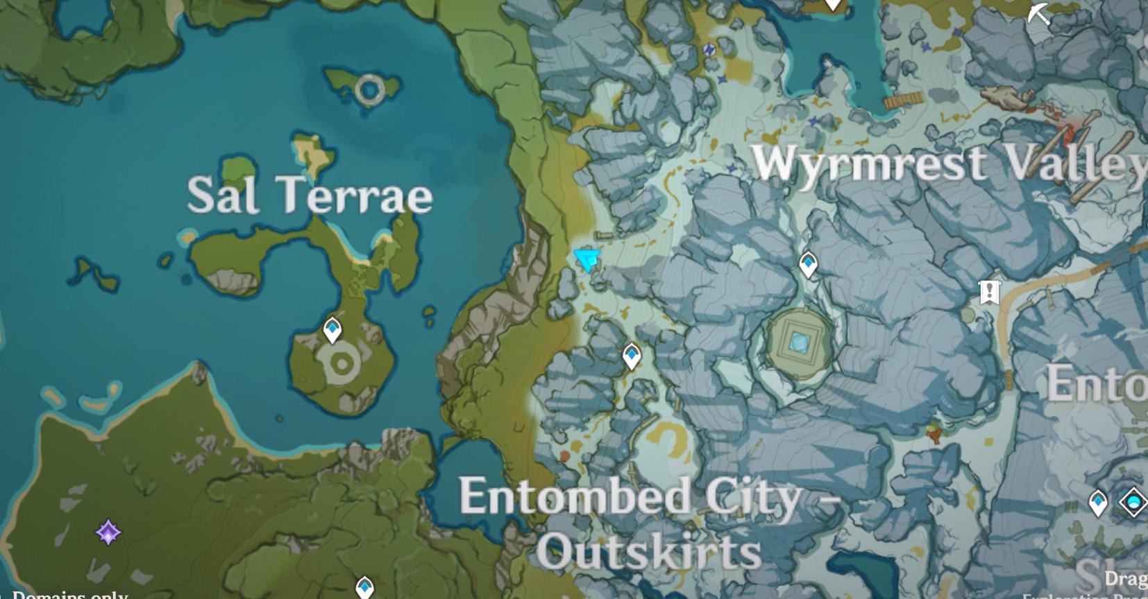 Carte-puzzle de la périphérie de la ville ensevelie