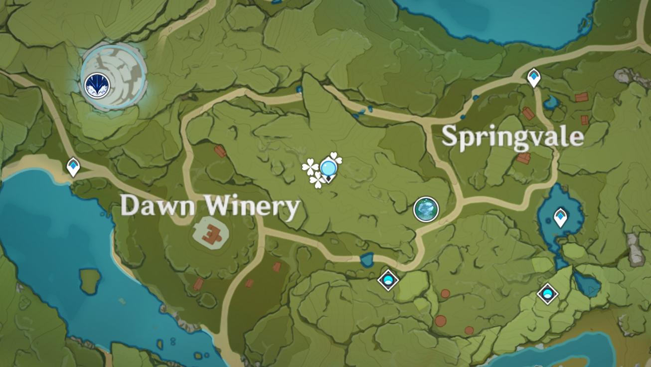 Où trouver Windwheel Aster à Genshin Impact - Dawn Winery