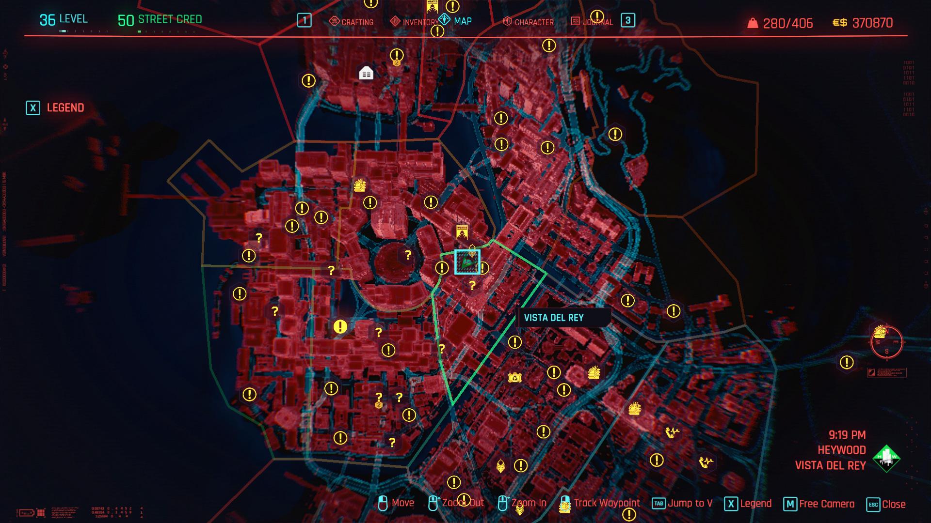 Plan du QG de Delamain à Night City |  Cyberpunk 2077