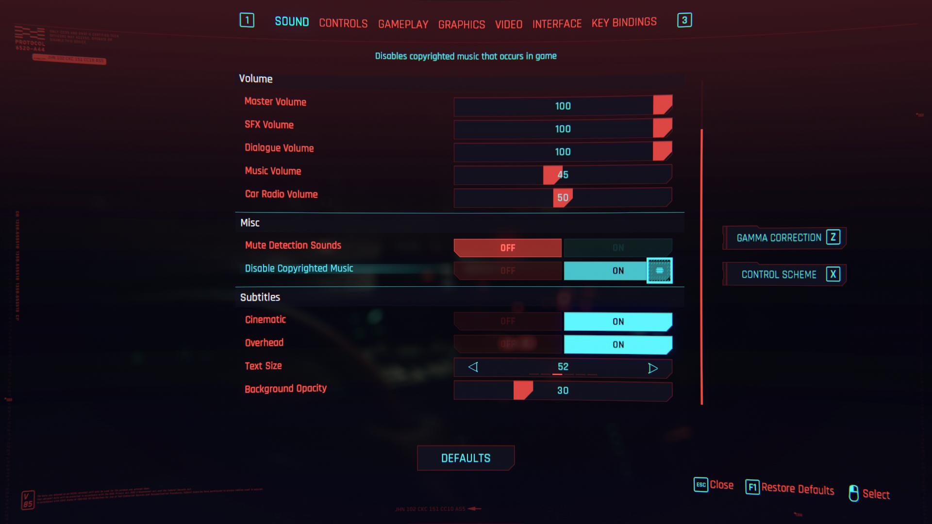 Comment désactiver la musique protégée par copyright dans Cyberpunk 2077