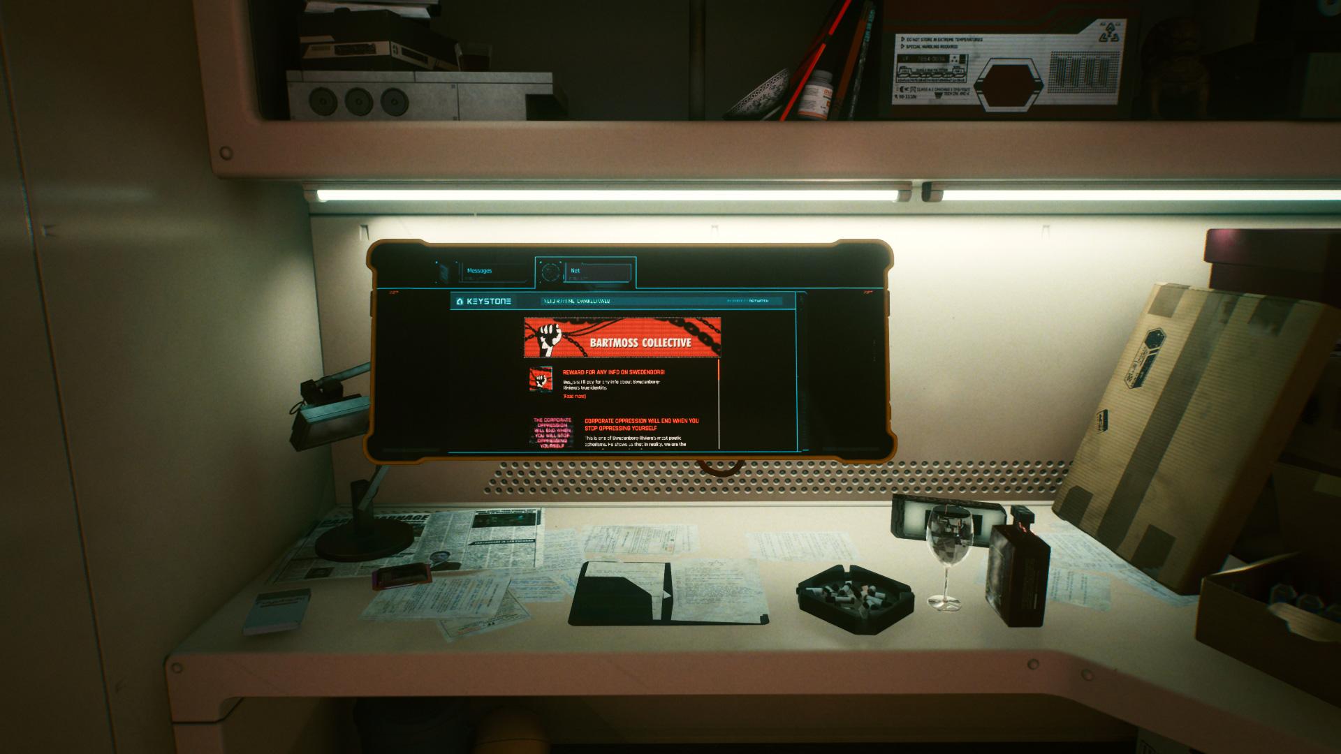 Comment enquêter sur le site à partir du message collectif Bartmoss dans Cyberpunk 2077