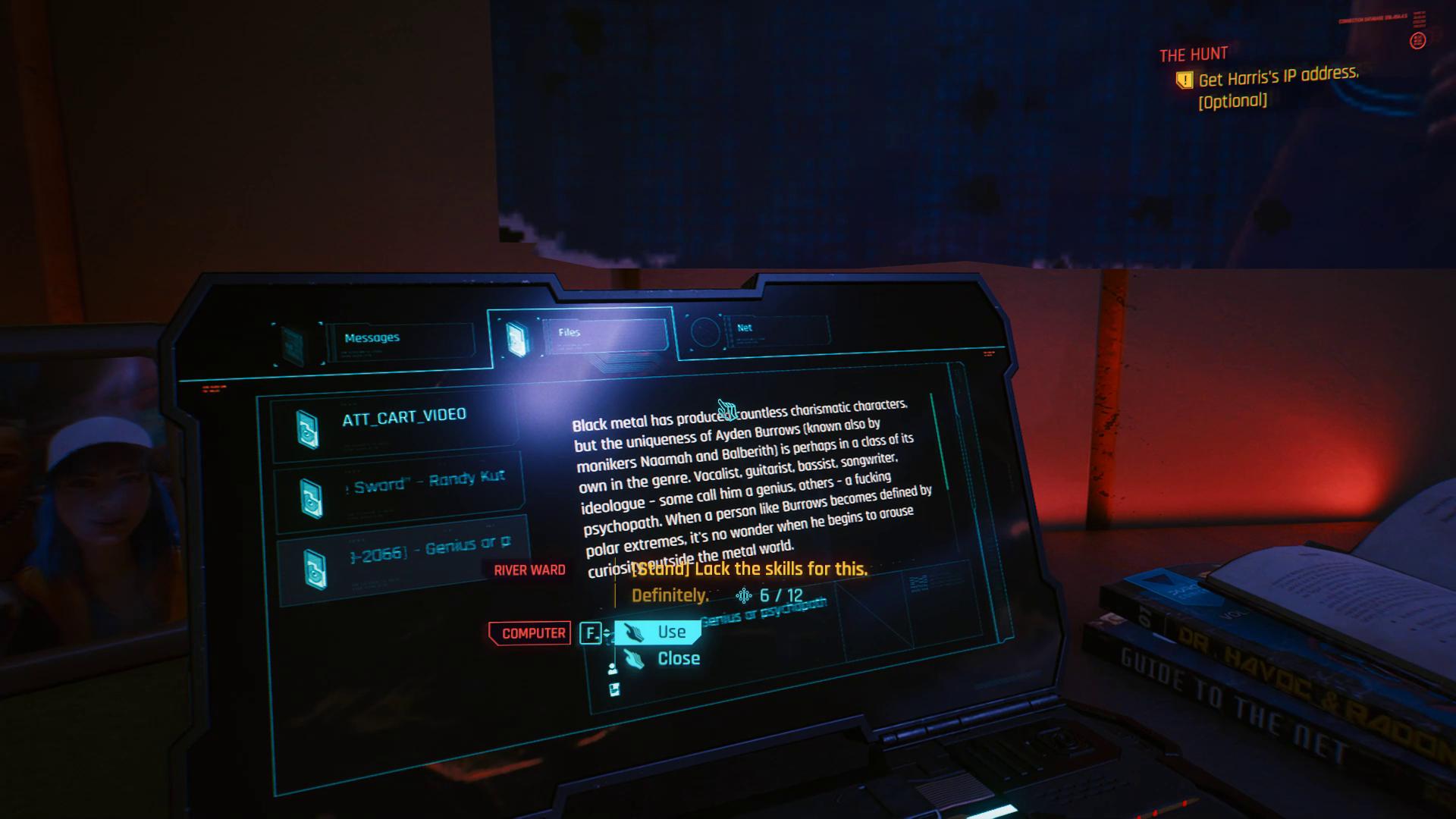 Comment obtenir l'adresse IP de Harris dans Cyberpunk 2077