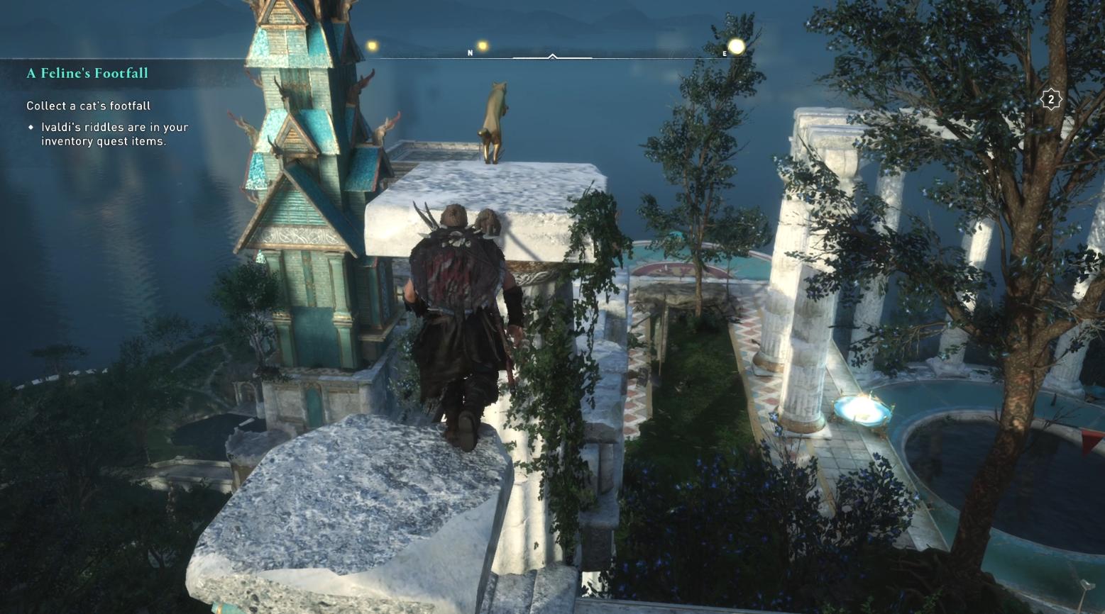 Comment récupérer les pas d'un chat dans Assassin's Creed Valhalla - Cat Location 1