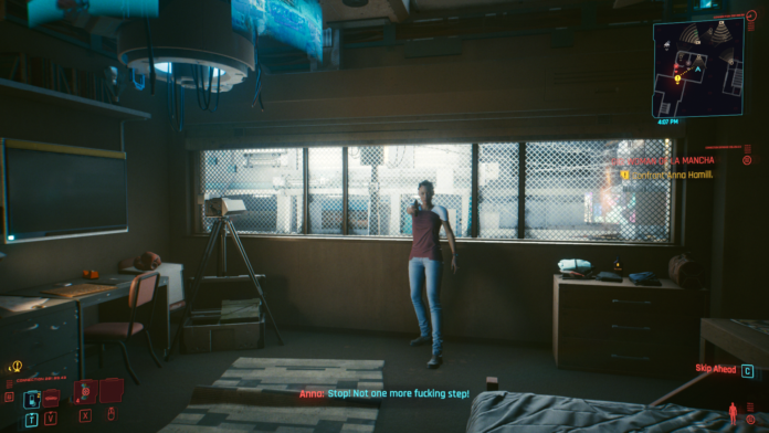 How to find Anna Hamill in Woman of La Mancha in Cyberpunk 2077
