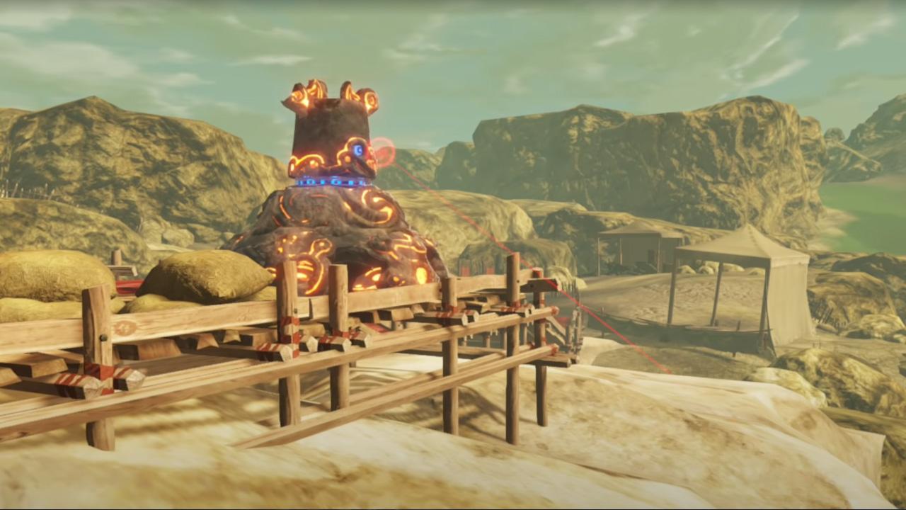 Comment vaincre le gardien en route vers l'ancien laboratoire dans Hyrule Warriors Age of Calamity