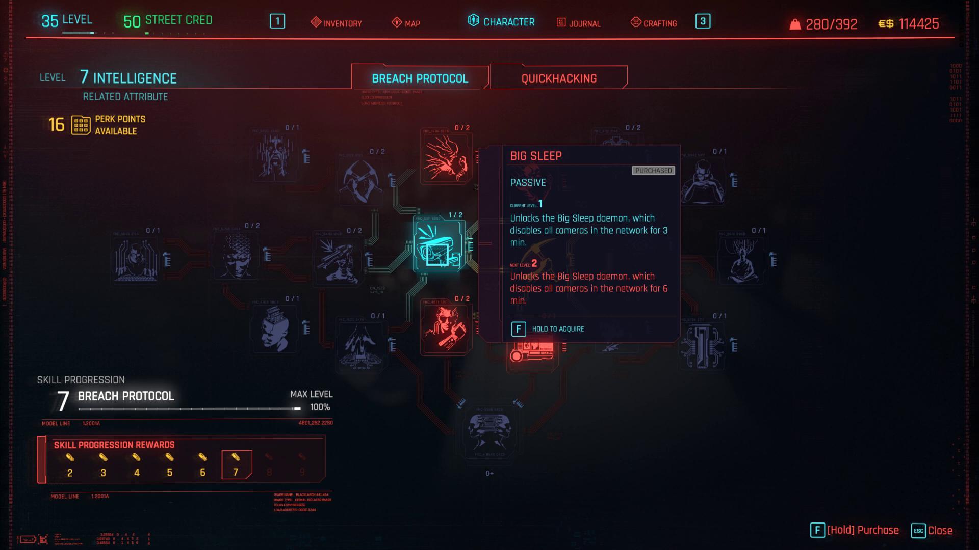 Cyberpunk 2077 Grand sommeil