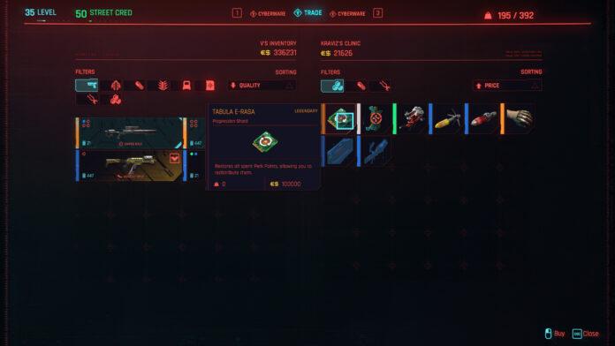 Can You Respec in Cyberpunk 2077?