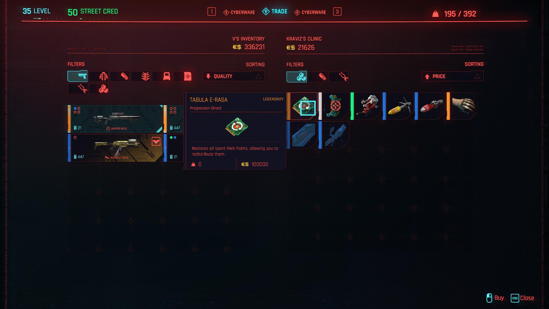 Pouvez-vous Respec dans Cyberpunk 2077?