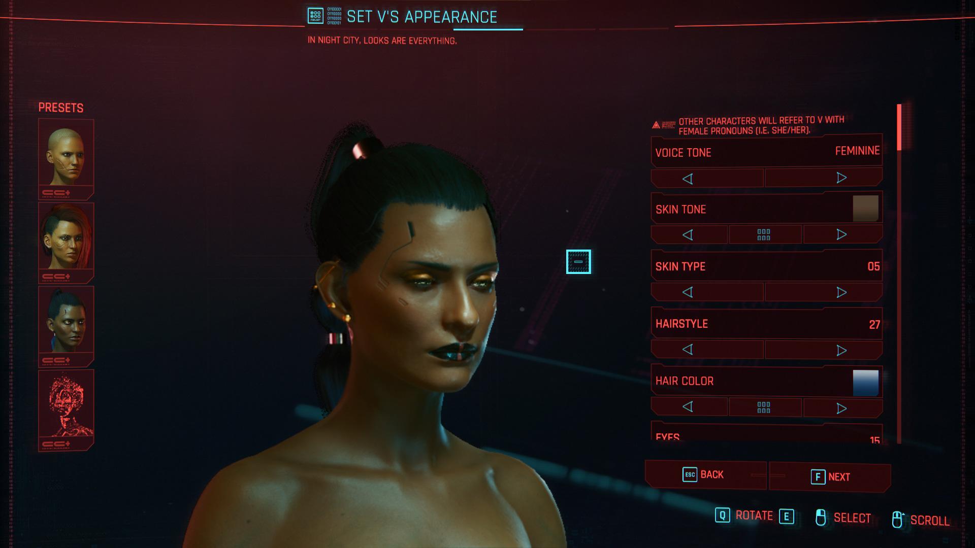 Pouvez-vous changer l'apparence de votre personnage dans Cyberpunk 2077?
