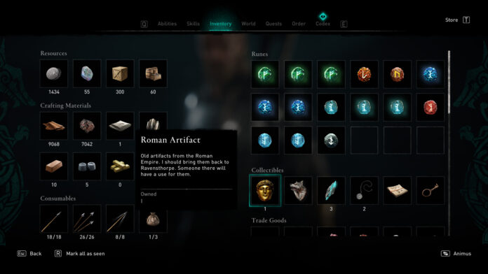 What to do with Roman Artifacts in Assassin