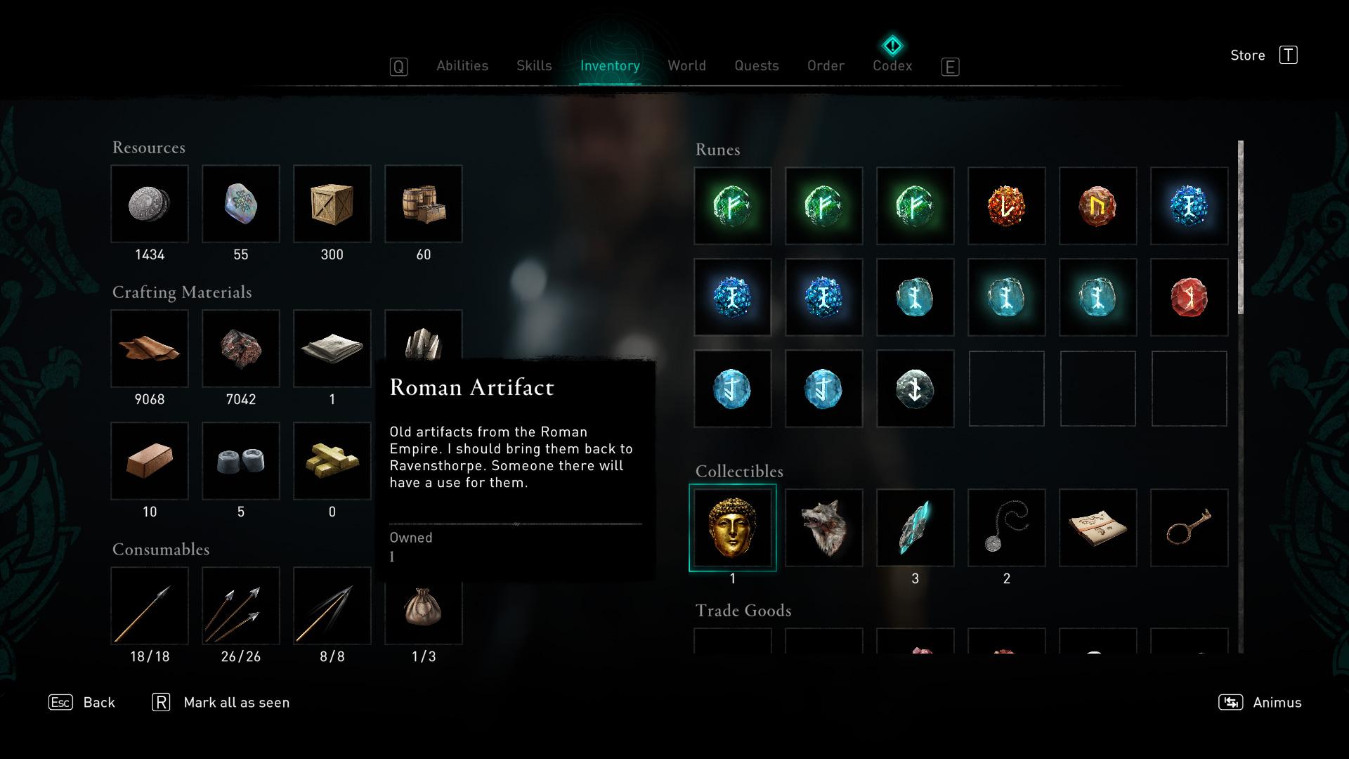 Que faire des artefacts romains dans Assassin's Creed Valhalla