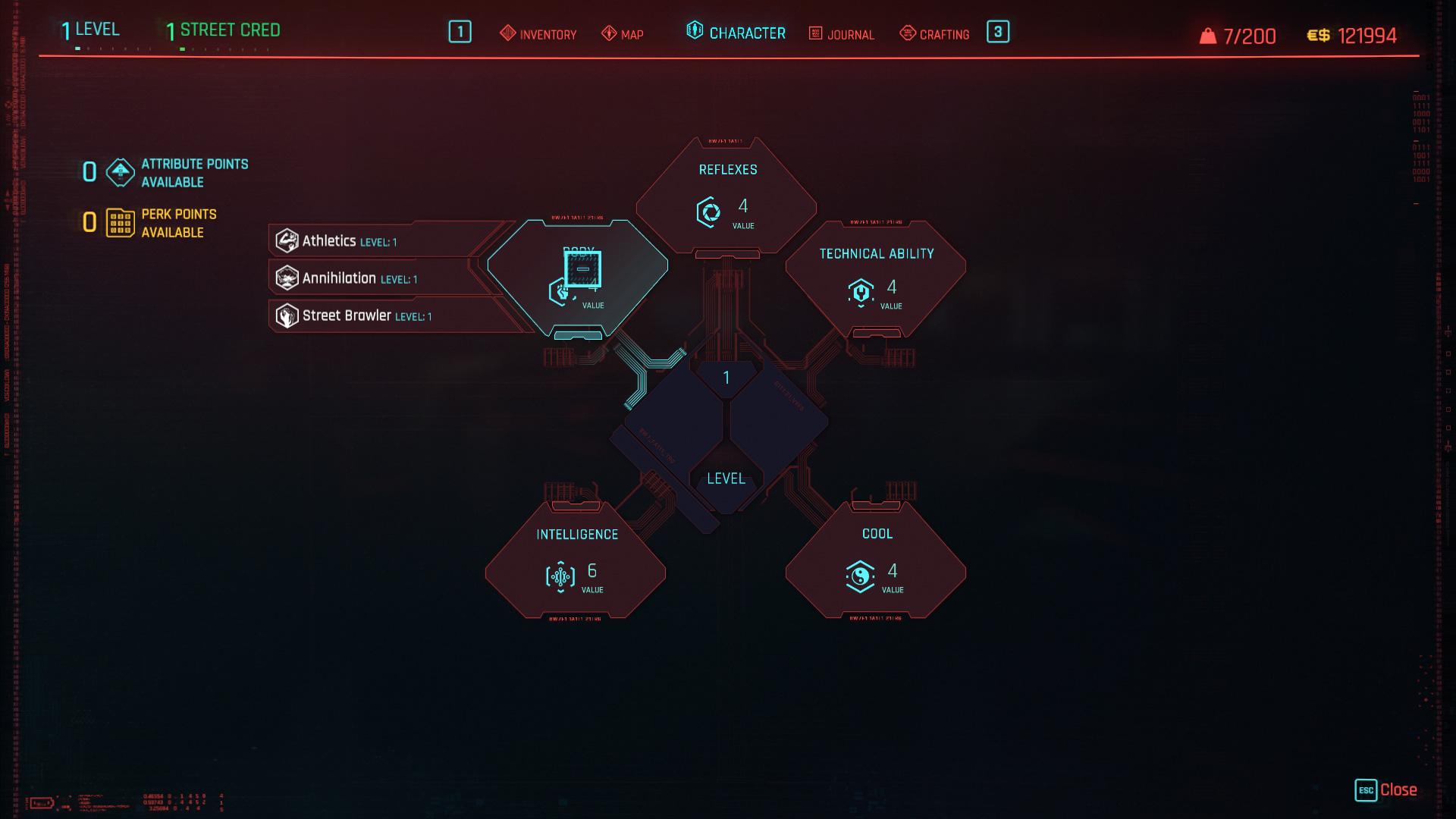 Quels sont les meilleurs attributs de Cyberpunk 2077?