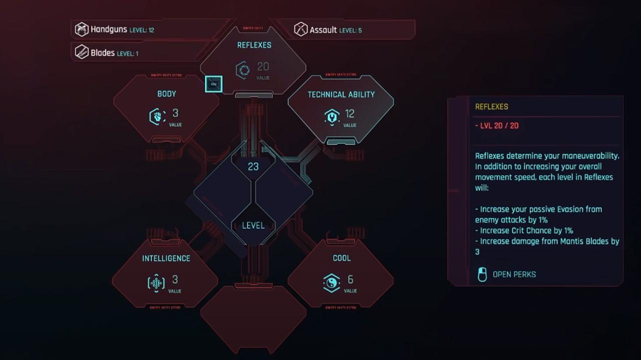 Toutes les compétences dans Cyberpunk 2077