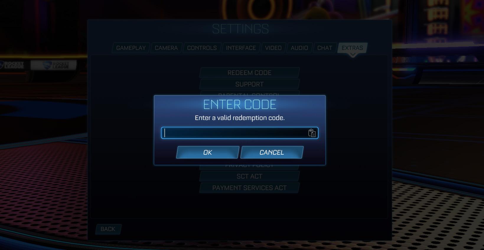 Comment utiliser les codes dans Rocket League