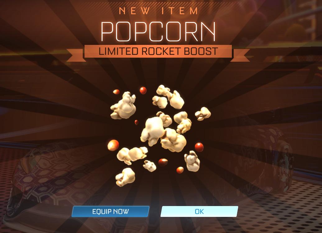 Codes Rocket League 2021 - Popcorn Limited Rocket Boost