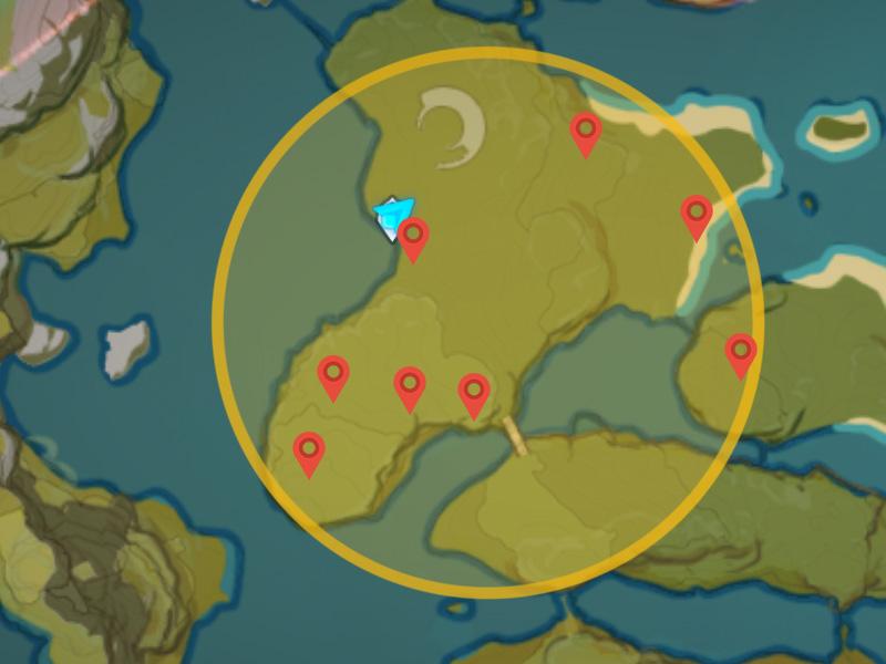Genshin Impact Lost Riches Treasure Area 14 emplacements à Mt.  Aozang