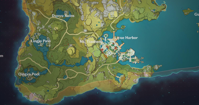 Où est Liyue Harbour à Genshin Impact?