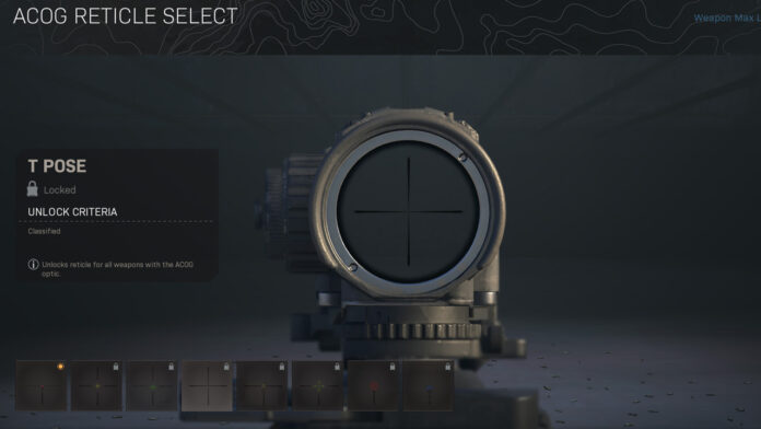How to get the T Pose Reticle in Warzone