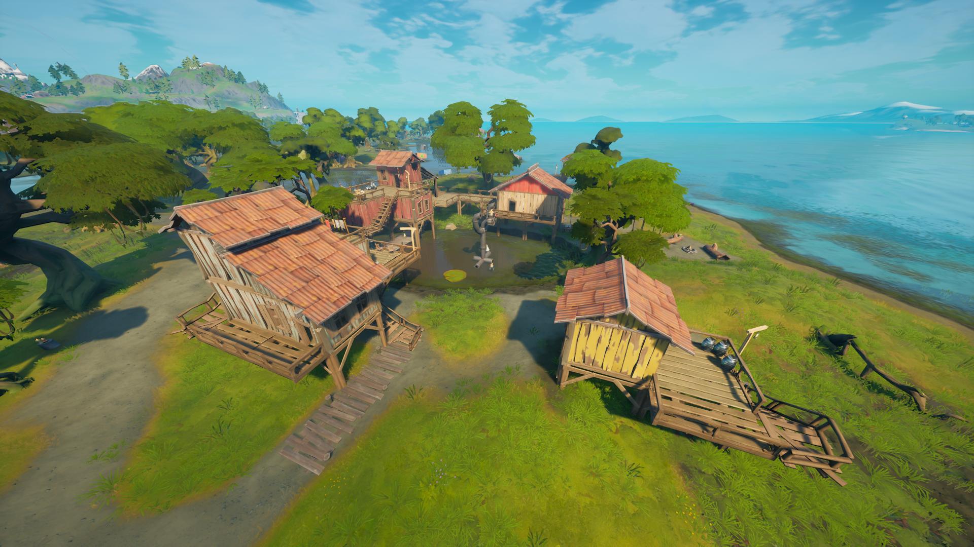 Fortnite: Comment visiter des maisons dans Slurpy Swamp en un match