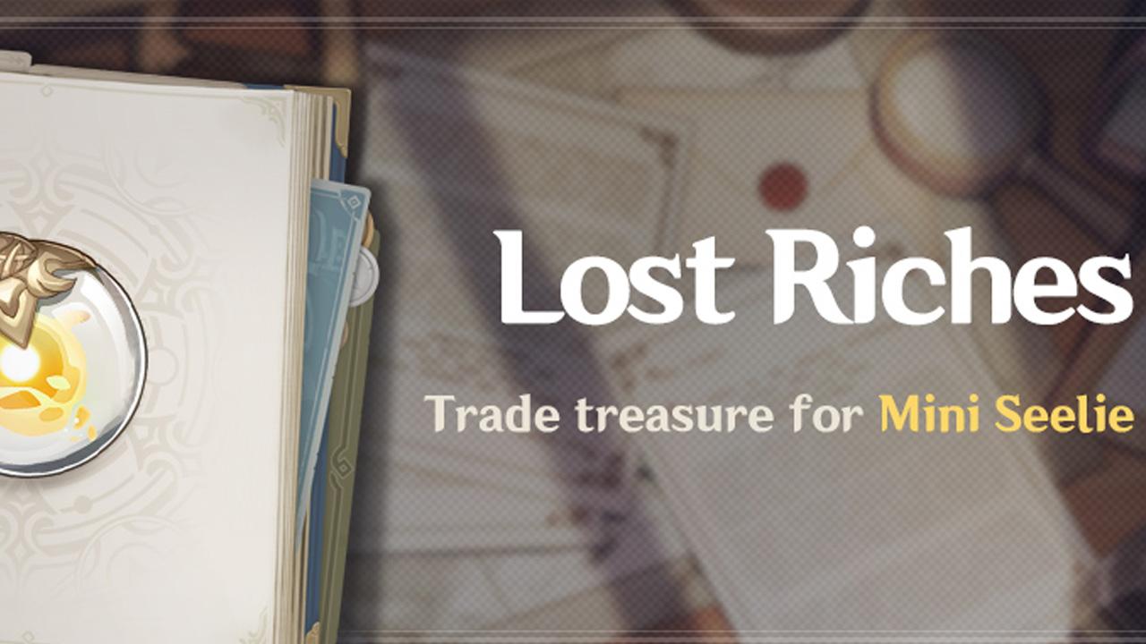 Guide de l'événement Genshin Impact Lost Riches