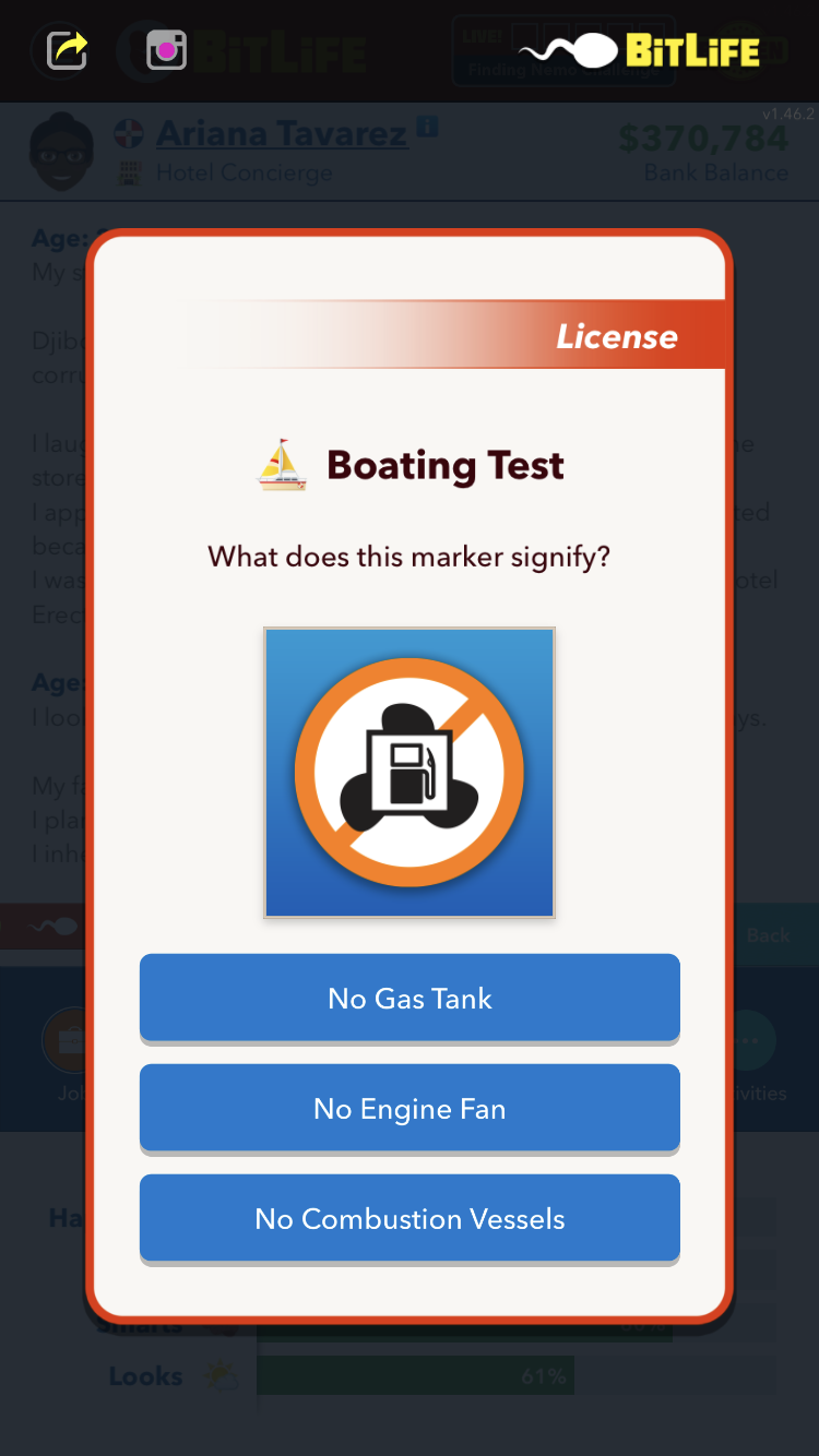 Comment obtenir une licence de navigation dans BitLife - Question 3