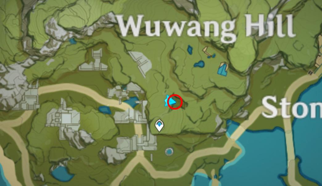 Où trouver des objets jaunes pour cinq bouffées de fortune à Genshin Impact - Wuwang Hill