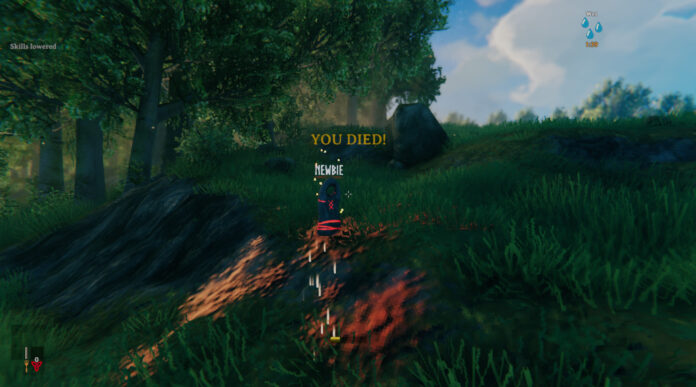 What happens when you die in Valheim?