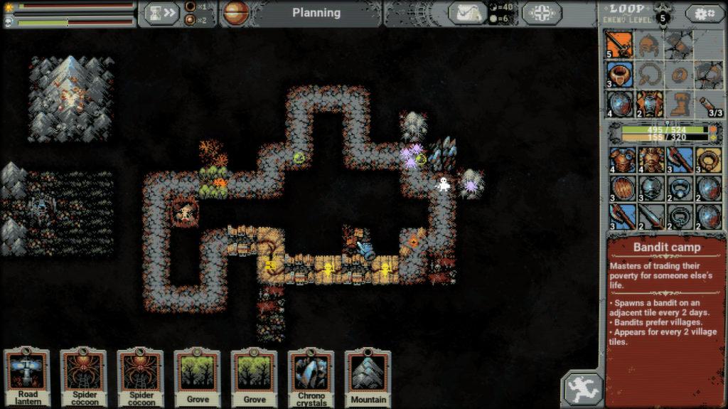 Combinaisons et synergies de tuiles Loop Hero - Bandit Camp