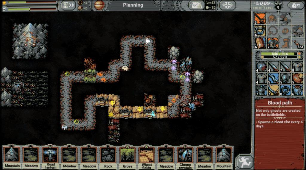 Combinaisons et synergies de tuiles Loop Hero - Blood Path
