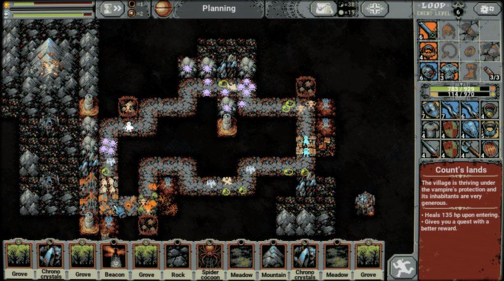 Combinaisons de tuiles Loop Hero - Count's Lands