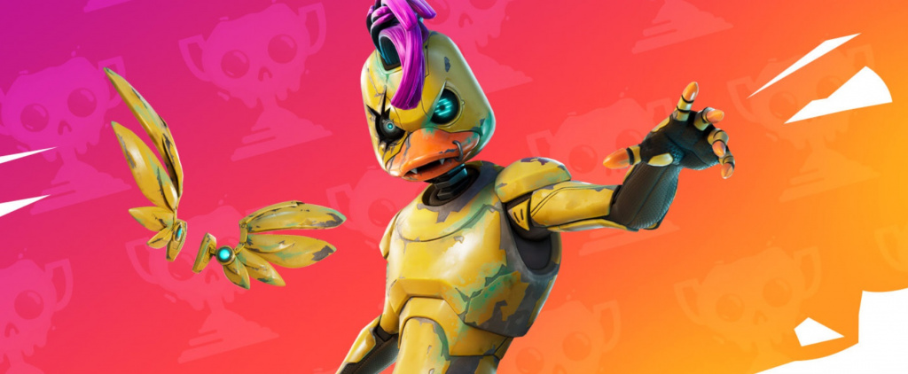Fortnite Websiter Skin Outfit Coupe de printemps à revers Mecha-Feather gratuit