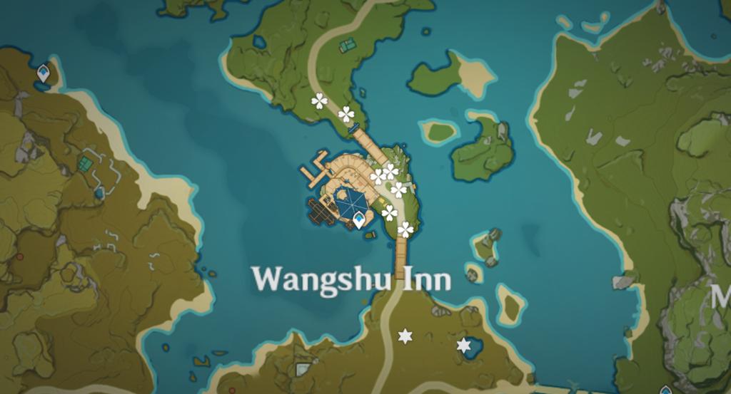 Où cultiver des fleurs en soie à Genshin Impact - Wangshu Inn