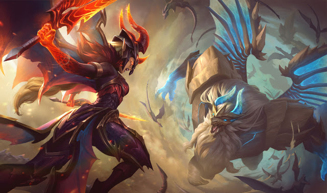 Dragonslayer Kayle et Dragon Guardian Galio
