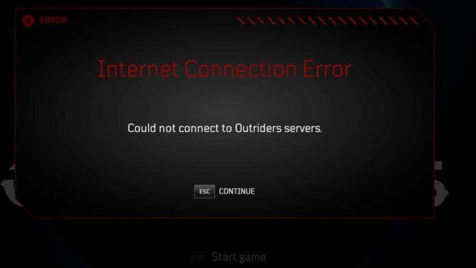 Impossible de se connecter aux serveurs