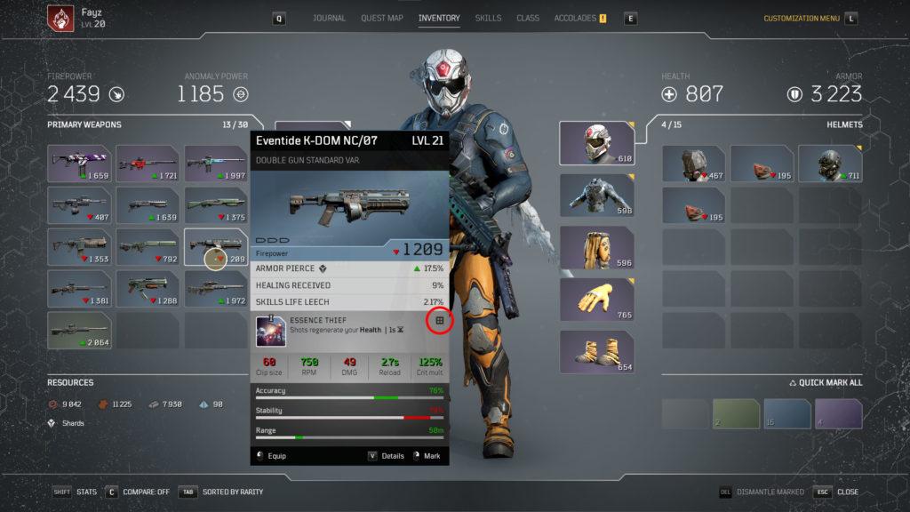 Mod Symbol Gear Outriders