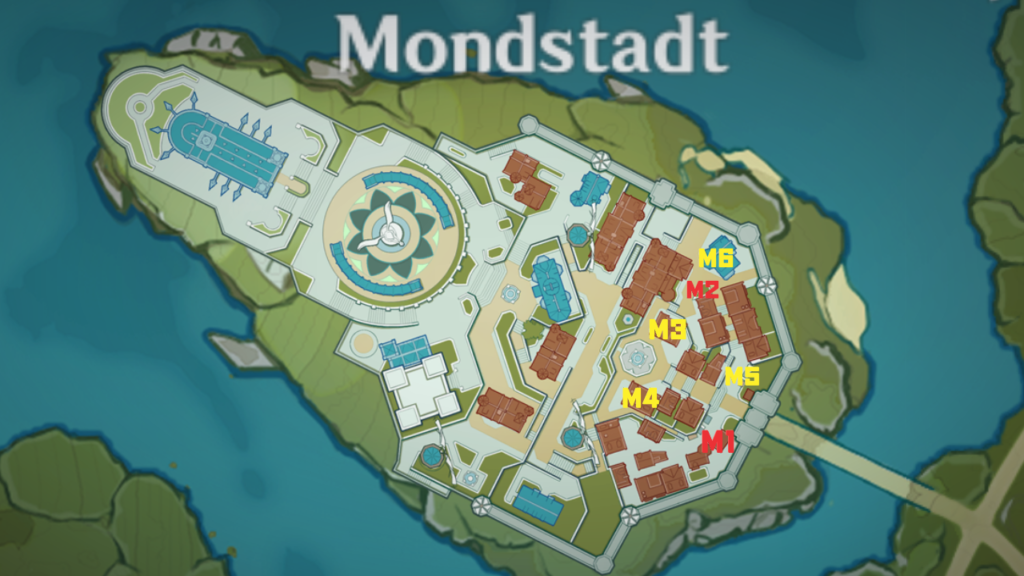 Boutiques et vendeurs Genshin Impact: Mondstadt City