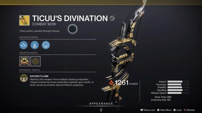 Comment obtenir la divination et le catalyseur de Ticuu dans Destiny 2