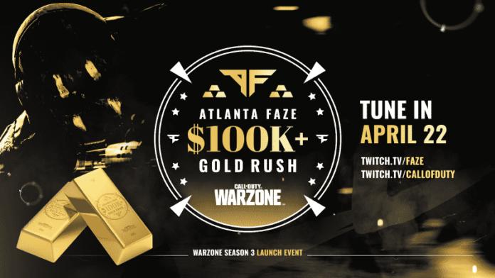Atlanta FaZe 100K $ Gold Rush Warzone: calendrier, joueurs, format, comment regarder, plus