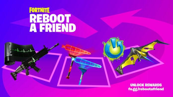 Comment obtenir des récompenses gratuites en redémarrant un ami dans Fortnite