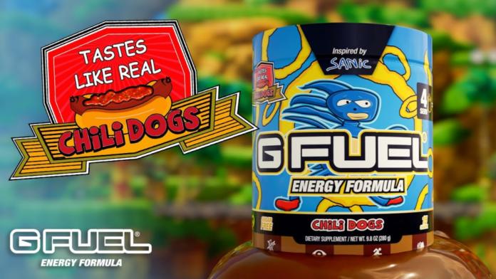G Fuel dévoile une nouvelle saveur chili dog inspirée de Sanic