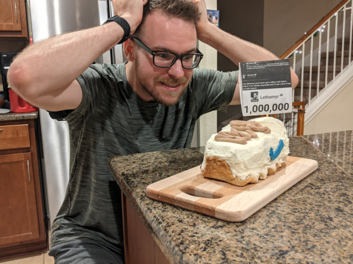 """SunlessKhan eats """"shoe"""" after losing birthday bet against Lethamyr"""